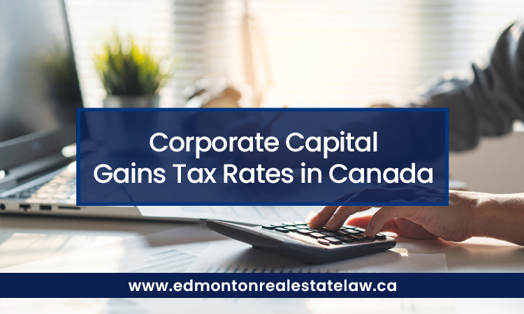 Corporate Capital Gains Tax Rates in Canada